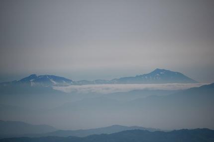 秋田駒と岩手山