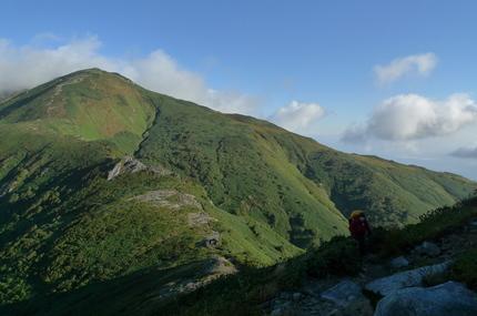 本山から続く道